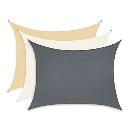 Minuma Sonnensegel | Wetterschutz | Windschutz | Sonnenschutz| wasserfest aus Polyester mit Wasserabweisender PU-Beschichtung und UV-Schutz | Rechteck 3 x 4 m, anthrazit