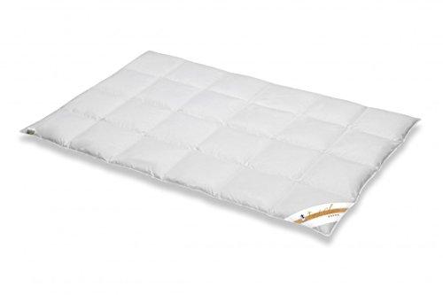 Daunendecke 135 x 200 / 750 g - Ganzjahres Bettdecke Spessarttraum Platin G100 - 100% Gänse Daunen - Für das ganze Jahr thumbnail