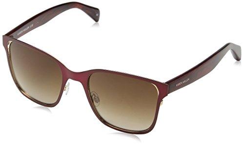 KAREN MILLEN Damen Km700425153 Sonnenbrille, Violett (Burgundy), 53