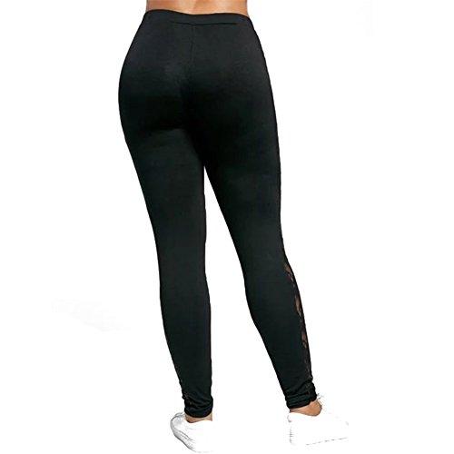 Legging Femme grande taille Yoga Pantalon - Juleya Collants Push Up pantalons de survêtement doux confortable pantalons jogging élastique Leggins pour Fitness Gymnastique D'entraînement Noir