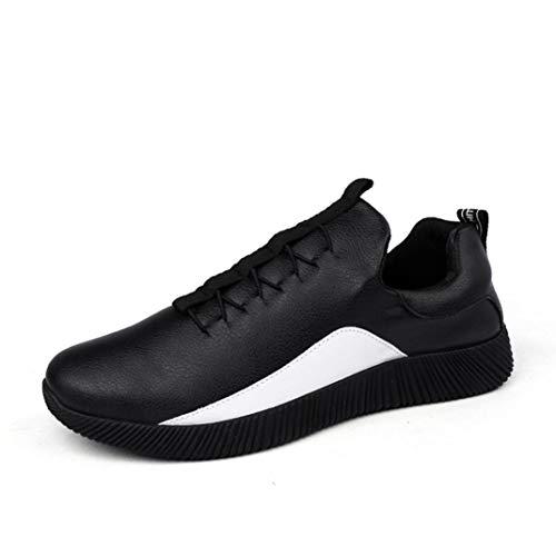 Baskets FantaisieZ Chaussures de Sport de Mode Chaussures Décontractées de Grande Taille pour Hommes Sneakers Plates d'ETé pour Hommes de Deux Couleurs