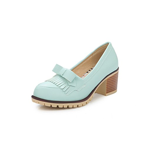 balamasa-womens-tassels-bows-pull-on-chunky-heels-blue-urethane-pumps-shoes-45-uk