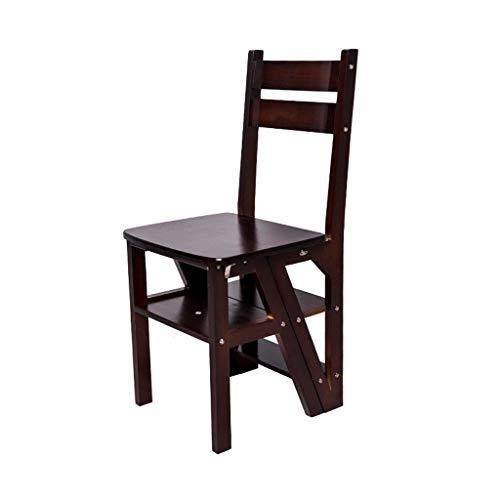 Cherry Zwei Stuhl (RMJAI Klappleiter aus Holz Hocker Stuhl Mehrzweck-Kletterleiter Home 4 Stufenleiter Tritthocker (Color : Cherries Color))