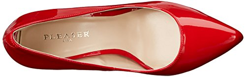 Pleaser AMUSE-20, Talons femme Rouge  (Red Pat)