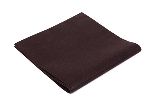 Tovaglie TNT - Formato cm. 100x100 - Confezione da 25 tovaglie in Tessuto Non Tessuto - Colore Marrone - Ideali per ristoranti, pizzerie, alberghi, trattorie, osterie, cene aziendali, buffet e congressi