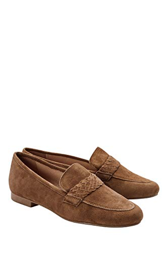 next Damen Slipper Aus Leder Tan Wildlederzopf 38.5 EU - Tan Leder-plattform