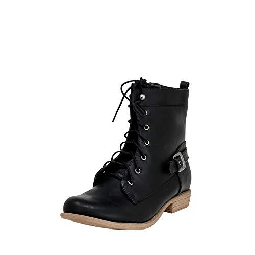 Fitters Footwear That Fits Damen Stiefelette Paris Bikerbook zum Schnüren (44 EU, schwarz)