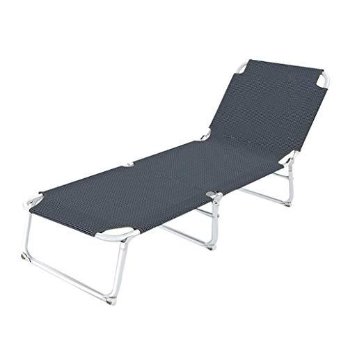 Yalztc-zyq16 Klappbett Multi-Grade verstellbare Rückenlehne mit Bettliege Klappspause Büro Nickerchen Krankenhausbett Bettbett Klappbett Einzelbett (schwarz)