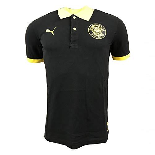 Puma BVB Premium Stencil Polo T-Shirt Black (M)