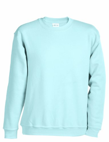 James & Nicholson Herren Sweatshirt Blau (light-blue)