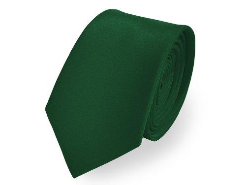knight-premium-satin-skinny-tie-slim-tie-narrow-tie-over-40-colours-available-evergreen