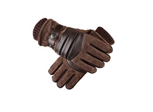 Blisfille Tactical Glove Herren Schweinsleder Handschuhe Herren Radsport Motorrad Kalt Warme Handschuhe Winter Verdickung Plus Samt Warm