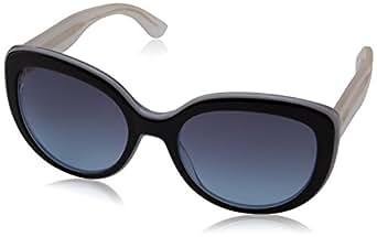 Tommy Hilfiger Unisex-Erwachsene Sonnenbrille TH 1354/S 38, Schwarz (Black Grey Crystal), 55