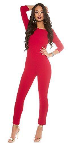 In-Stylefashion - Combinaison - Femme rouge rouge foncé taille unique rouge foncé