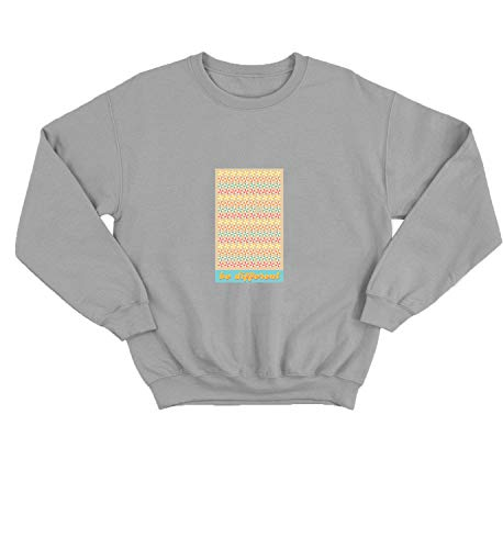 LumaCrewnecks Beach Umbrellas Be Different Quote_003227 Cute Funny Sweater Sweatshirt Pullover Present - 2XL Grey Crewneck
