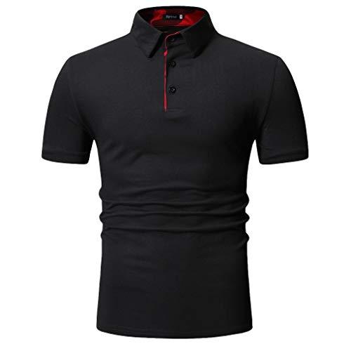 CICIYONER Herren Poloshirt Polo Kragen Sommerhemd Kurzarm T-Shirt Schwarz weiß grau M L XL XXL