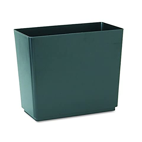 Rubbermaid Commercial FG25051 RCP25051CT Designer 2 Wastebasket, Rectangular, Plastic, 6.5 gal, Black (Pack of