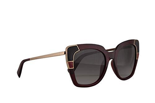Salvatore ferragamo donne sf889s occhiali da sole w/lenti grigie 52mm 613 sf 889s crystal red grande