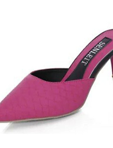 WSS 2016 Chaussures Femme-Décontracté-Noir / Blanc / Fuchsia-Talon Aiguille-Talons-Chaussures à Talons-Polyuréthane fuchsia-us7.5 / eu38 / uk5.5 / cn38