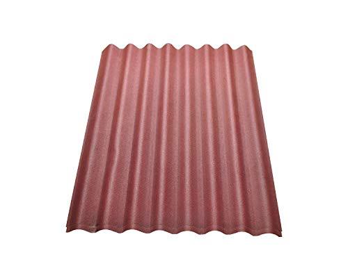 Onduline Easyline Dachplatte Wandplatte Trapezblech Wellplatte 2x0,76m² - rot