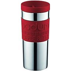Bodum - 11093-294 - Travel Mug - Mug de Voyage isotherme - Double Paroi Inox - Couvercle à vis - 0.35 L - Rouge