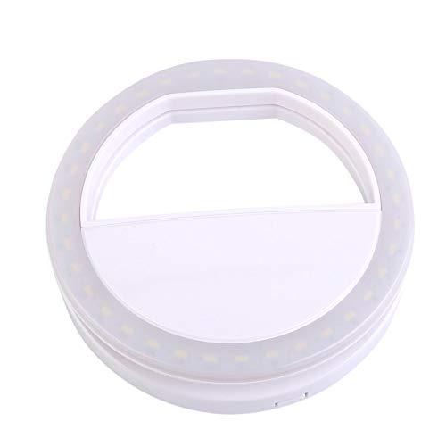 Nowakk Handy-Clip Selfie LED Auto-Blitz für Handy Smartphone Runde Tragbare Selfie Taschenlampe Mini Kamera Taschenlampe