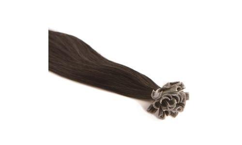 Extensions Cheveux Kératine 100 mèches indiennes 0,8gr Noir 50cm