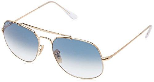Ray-Ban Herren Sonnenbrille Rb 3561, Gold/Bluegradient, 57