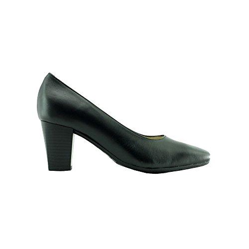 Schwarz Schuhe Stewardess Orson 2 Leder Schwarz