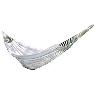 MMM& Hamaca Blanca Hamaca de nylon al aire libre de la cuerda de la red Hamacas de colgante de la hospitalidad de las sillas de interior 280 * 140cm
