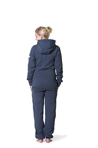 Jumpster Damen und Herren Jumpsuit Weicher Onesie Exquisite Regular Fit Blau S - 4