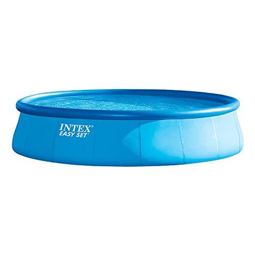Intex Easy Set Pool 28176 Aufstellpool mit Filter, Kartuschenfilter 5.678 l/h, Leiter, Abdeckplane, Bodenschutzplane, 549cm x 122cm