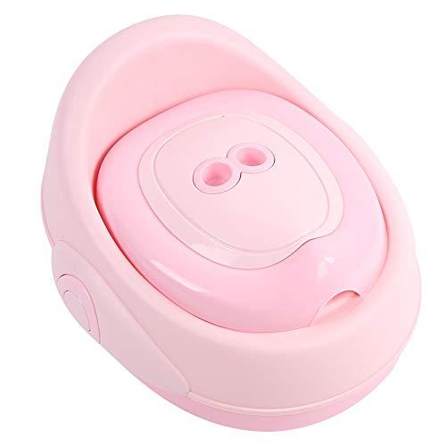 Vasino Toilette di Viaggio, 3 in 1 Vasino per Bambin WC per bambini Portatile Design Divertente per Bambini Schienale Ergonomico Alto Confortevole e Robusto(rosa)