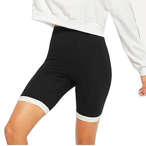 Modaworld leggins cortos baratos para mujer con bolsillo lateral, fitn