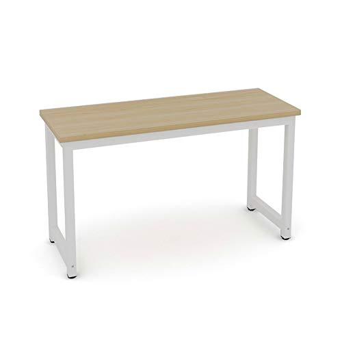 Dripex Holz Schreibtisch Computertisch, 120x60x74cm PC-Tisch Bürotisch Officetisch Stabile Konstruktion Tisch für Home Office Schule (120cm Ulmefarbe-Weiß)