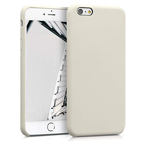 kwmobile Apple iPhone 6 Plus / 6S Plus Hülle - Handyhülle für Apple iPhone 6 Plus / 6S Plus - Handy Case in Creme