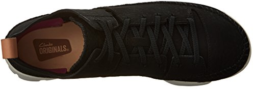 Clarks , Damen Sneaker schwarzes Nubukleder