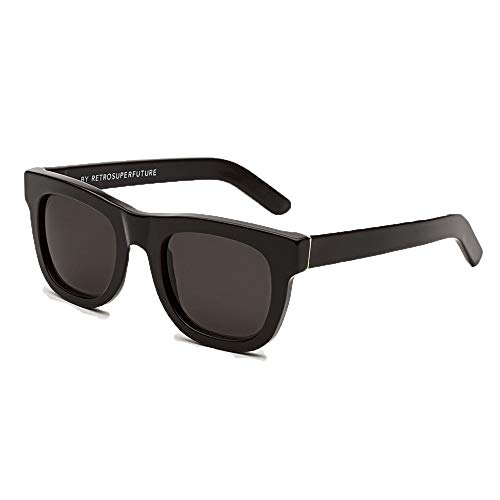 Sunglasses Super by Retrosuperfuture Ciccio Black 457 Regular R 50 22 145 NEW