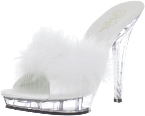 Pleaser LIP101-8/BP/C Mules Femmes Blanc