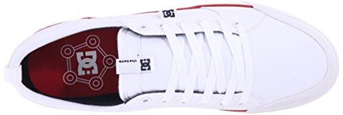 DC - - Männer Evan Smith S Low Top Freizeitschuh Weiß/Marineblau/Rot