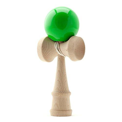 PRECORN Kendama Japanisches Geschicklichkeitsspiel Grüne Kugel Holz-Spielzeug Kugelfangspiel Marke