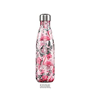 Chilly 's chilly039Trinkflasche, Edelstahl, Flamingo, 500ml