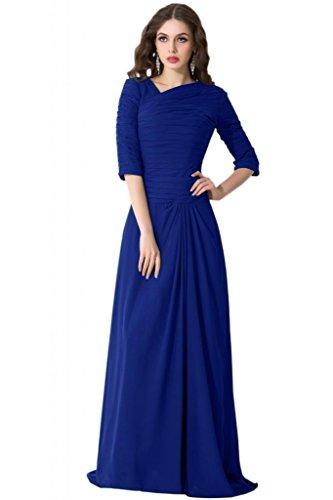 Sunvary Mother of the Bride, stile Vintage per vestiti in Chiffon con mezza manica Blu