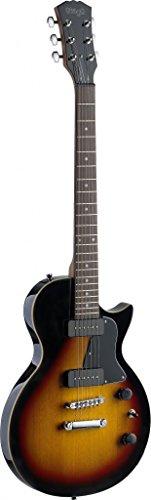 Stagg 25020646 SEL-P90SB - Guitarra eléctrica, Roca serie L, color del resplandor solar