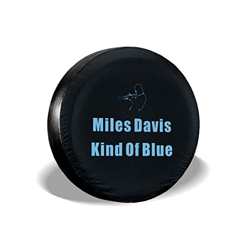 WBinHua Ersatzradabdeckungen, Spare Wheel Covers, Miles Davis Kind of Blue Spare Tire Cover Waterproof Dust-Proof Universal Spare Wheel Tire Cover Fit for Jeep,Trailer, RV, SUV Davis-cover
