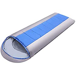 Campingschlafsack, tragbares Leichtgewicht rechteckig mit Kompressionssack, 4-saisonaler Schlafsack, geeignet für Erwachsene und Kinder Campingausflug Sommergarten