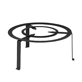 Trébede de Forja REDONDO diámetro Todos Los medidas Fácild materiales de alta calidad Diseño compacto ideales para usar directamente en fuego de leña (30cm)
