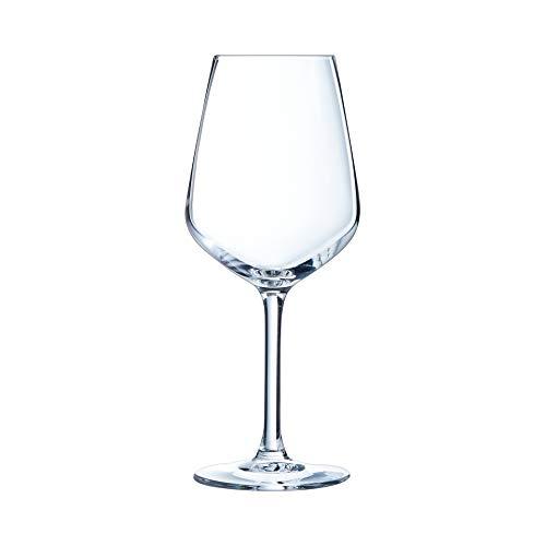 Arcoroc N5163 Verre à pied Vina Juliette, 30cl, verre ultra transparent le lot de 6