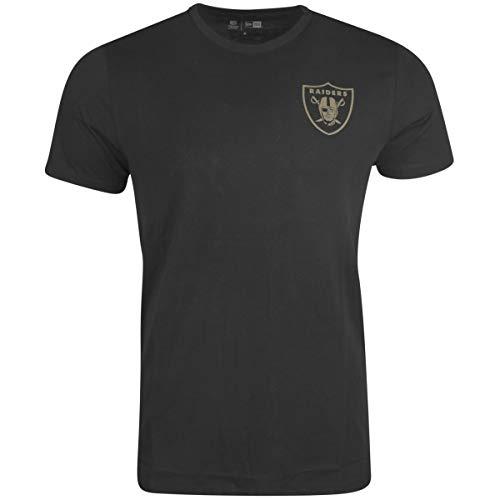 New Era Camo Collection Herren T-Shirt Oakland Raiders Schwarz, Größe:XXL