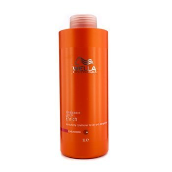 Wella - Enrich Moisturizing Conditioner For Dry &Amp; Damaged Hair (Fine/Normal) 1000Ml/33.8Oz - Soins Des Cheveux